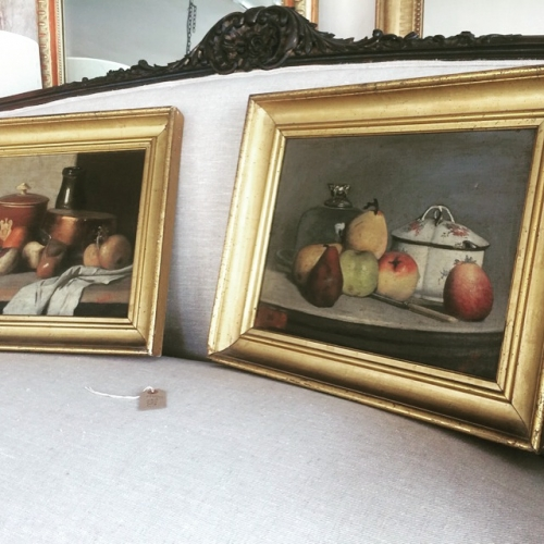 Pair of French Still Life Oil paintings