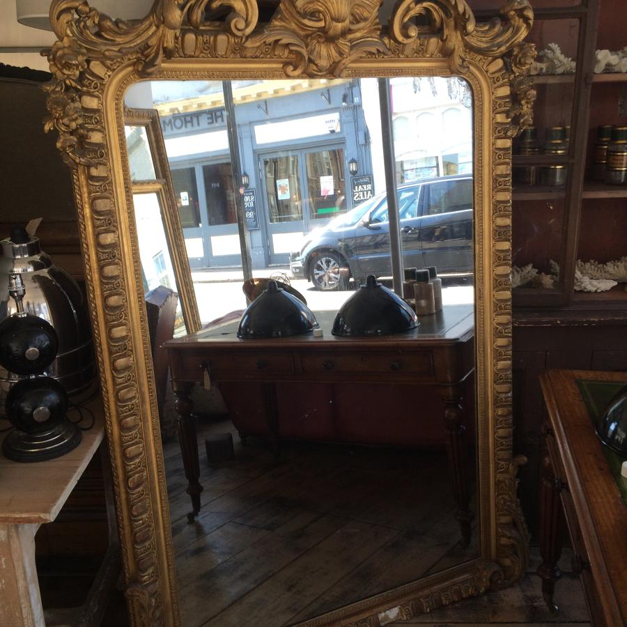 Mid 19th C French Shell Crested Mirror