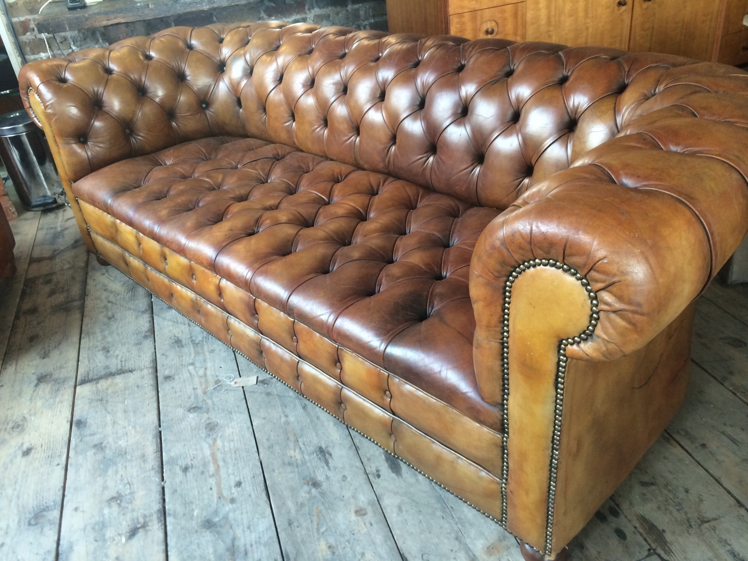 Tan Chesterfield Sofa Laura Ashley Rochester Distressed Tan Brown Leather Chesterfield TheSofa