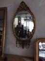 Adam style gilt wood girandole mirror - picture 1