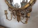 Adam style gilt wood girandole mirror - picture 3