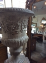 Stone (reconstituted) urn and pedestal - picture 1