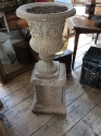 Stone (reconstituted) urn and pedestal - picture 2