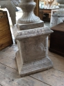 Stone (reconstituted) urn and pedestal - picture 3
