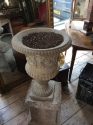 Stone (reconstituted) urn and pedestal - picture 4