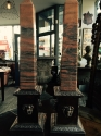 Pair of Pink Marble and Silver plated Obelisk - picture 2