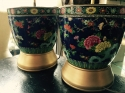 Pair of Chinese polychrome porcelain lamps - picture 1