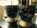 Pair of Chinese polychrome porcelain lamps - picture 2