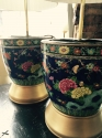 Pair of Chinese polychrome porcelain lamps - picture 4