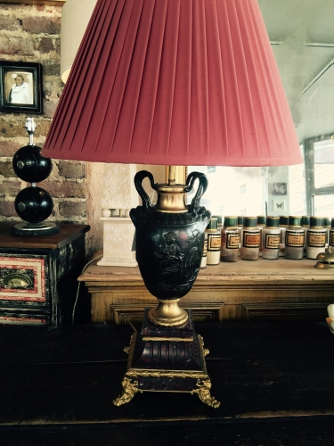 Late 19th French Bronze lamp