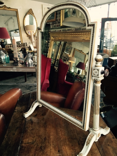 George III style painted dressing mirror