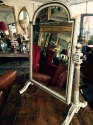 George III style painted dressing mirror - picture 4