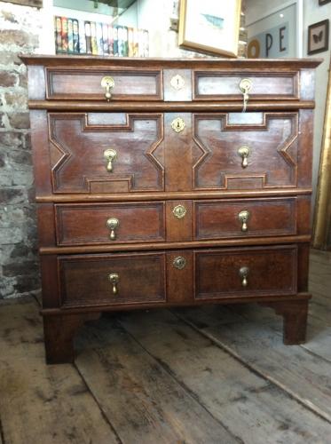 James II Oak Chest of Drawers