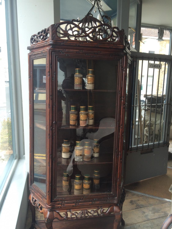 Chinese Qing Padouk wood vitrine
