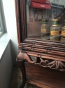 Chinese Qing Padouk wood vitrine - picture 3