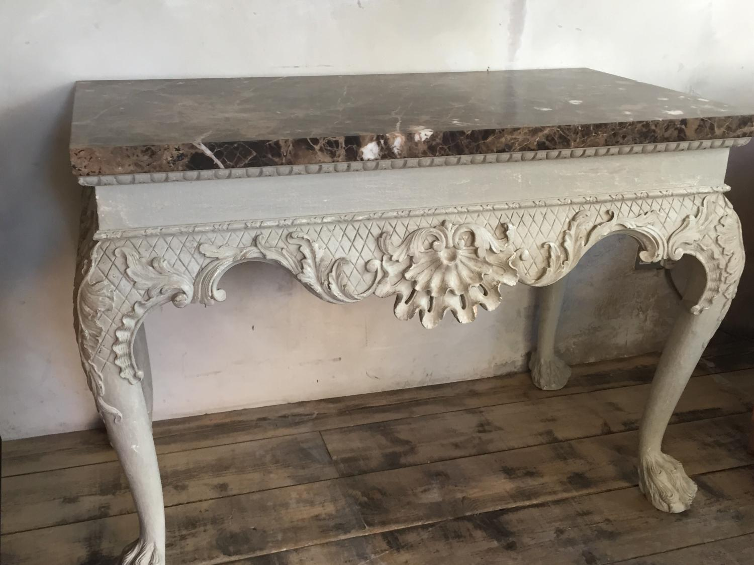 William Kent style Marble top Console table