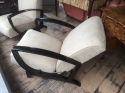 Pair of French Art Deco Open Armchairs - picture 2