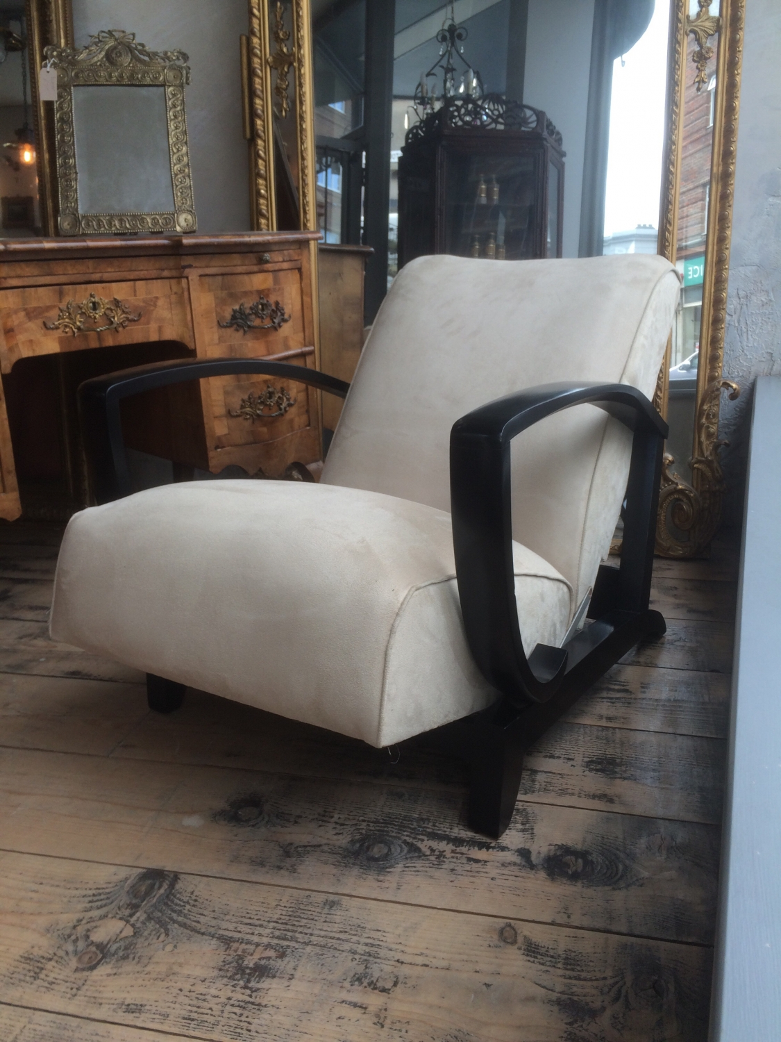 ... Pair Of French Art Deco Open Armchairs   Picture 8 ...