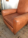 Moustache back Leather club Chair - picture 1