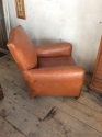 Moustache back Leather club Chair - picture 3