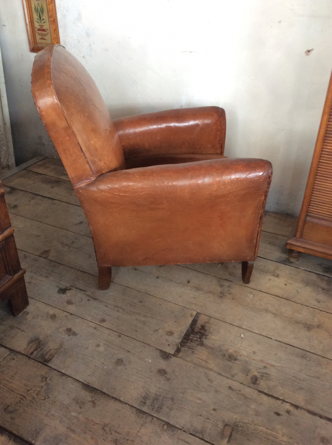... Small Leather Club Chair   Picture 2 ...