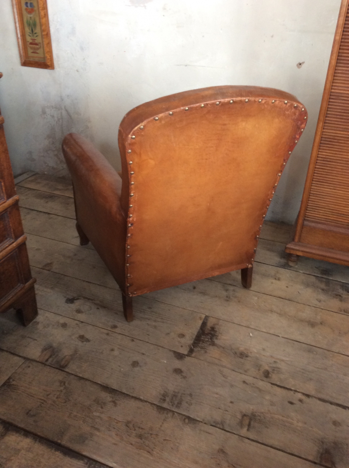 Beau Small Leather Club Chair In Furniture