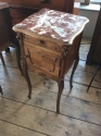 Pair of French marble top bedside cabinets - picture 2