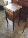 Pair of French marble top bedside cabinets - picture 3