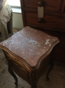 Pair of French marble top bedside cabinets - picture 4
