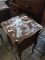Pair of French marble top bedside cabinets - picture 5