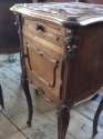 Pair of French marble top bedside cabinets - picture 6