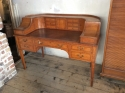 Satinwood Carlton House Desk - picture 1