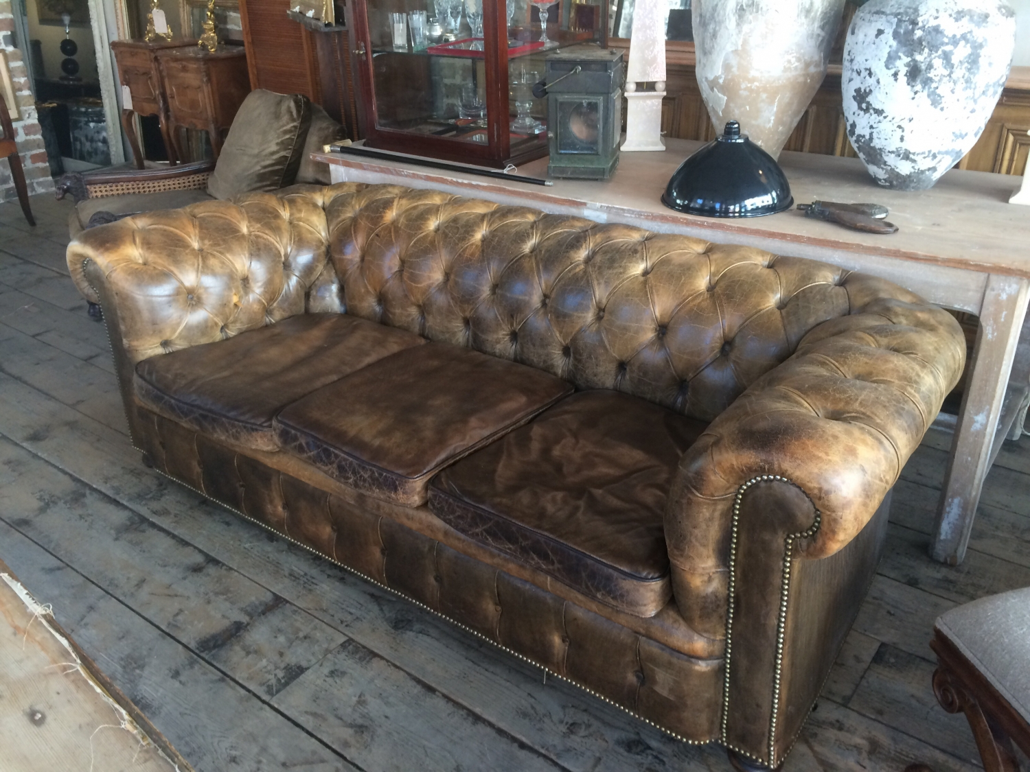 Chesterfield Sofa Antique Home