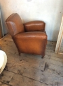 Single Tan Leather Club chair - picture 2