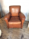 Single Tan Leather Club chair - picture 3