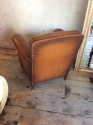 Single Tan Leather Club chair - picture 4