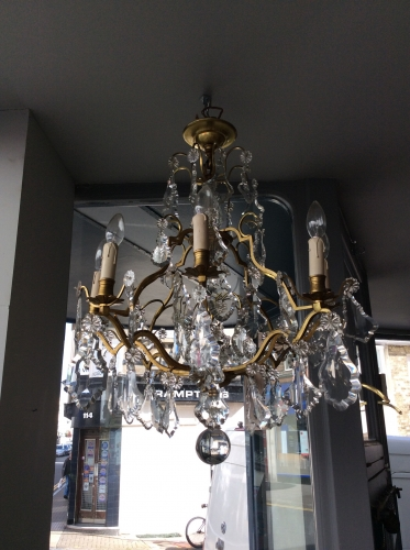 French Pampilles chandelier