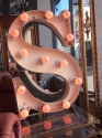 French Vinage Letter S - Pink Neon - picture 1