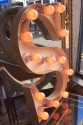 French Vinage Letter S - Pink Neon - picture 2