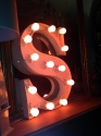 French Vinage Letter S - Pink Neon - picture 4