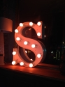 French Vinage Letter S - Pink Neon - picture 6