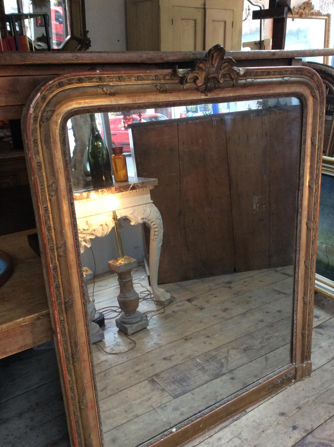 Large Gilt Wood French Mirror