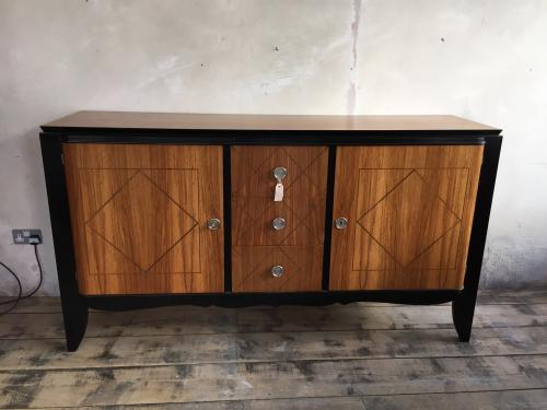 Bleached Walnut & Ebonised sideboard 1940\'s