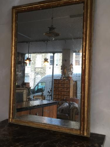 Distressed French Mercury Glass Mirror