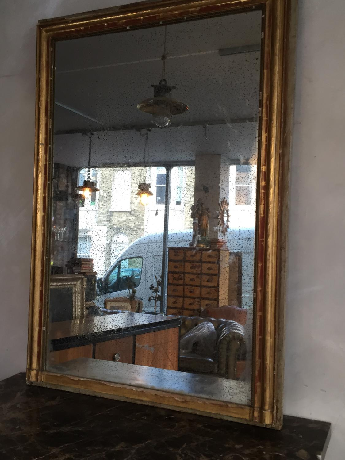 Distressed French Mercury Glass Mirror In Mirrors