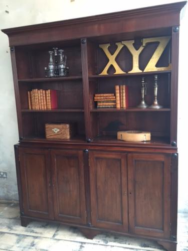 Regency Mahogany & Ebony Inlaid Bookcase