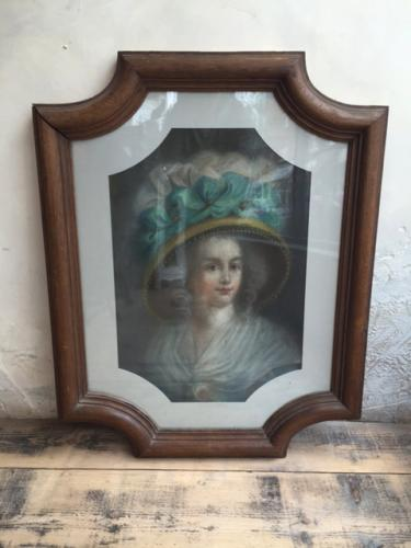 Pastel on Board Portrait of a lady late c1800