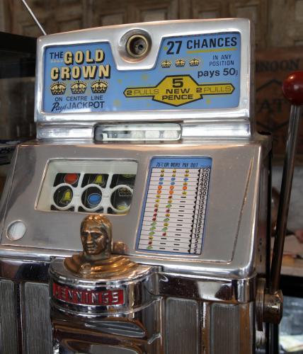 American Indian Head Slot Machine 1950's