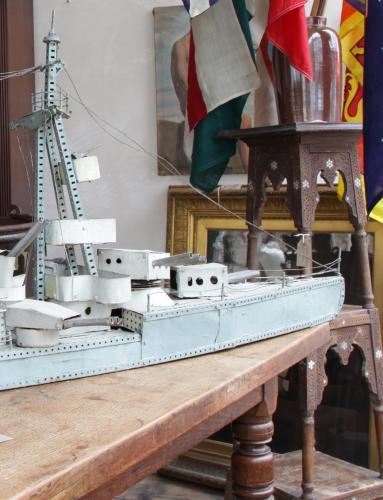 Scatch-built Meccano Dreadnought c1920