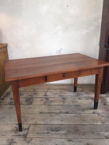 French Fruitwood Farmhouse Table Early C19th